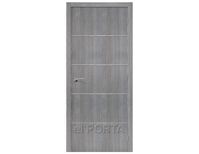 Межкомнатная дверь ПОРТА-50А-6 Grey Crosscut