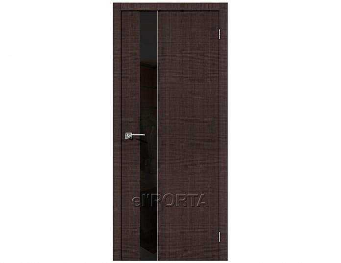 Межкомнатная дверь Модель ПОРТА-51 Lacobel «Black Star»