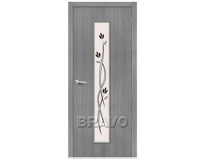 Межкомнатная дверь ТРЕНД-14 3D Сатинато белое Grey