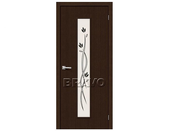 Межкомнатная дверь ТРЕНД-14 3D Сатинато белое Wenge
