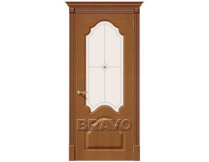 Межкомнатная дверь Афина Белое художественное Дуб