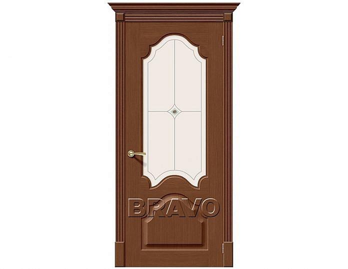 Межкомнатная дверь Афина Белое художественное Орех