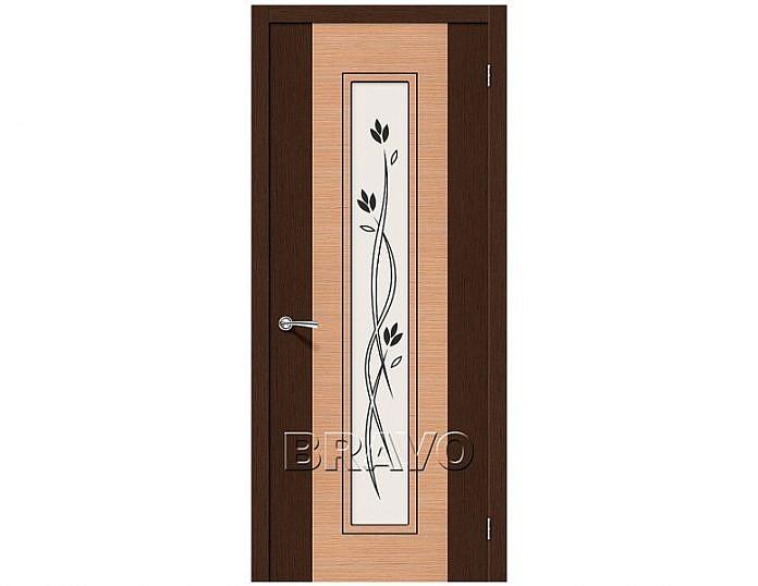 Межкомнатная дверь Этюд Сатинато белое