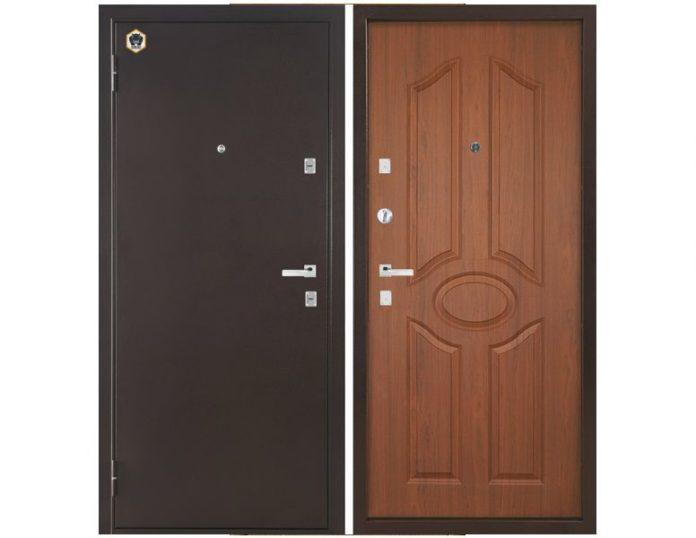Входная дверь Бульдорс-12 C-1 Лесной орех