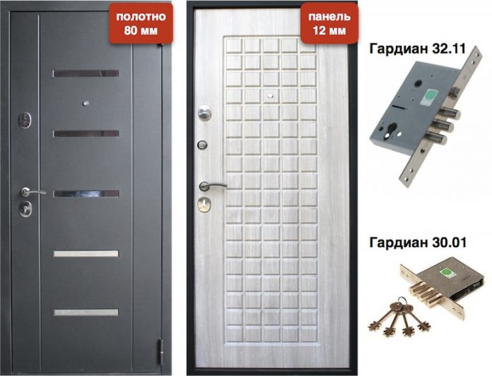 Входная дверь VD-45 Дуб седой