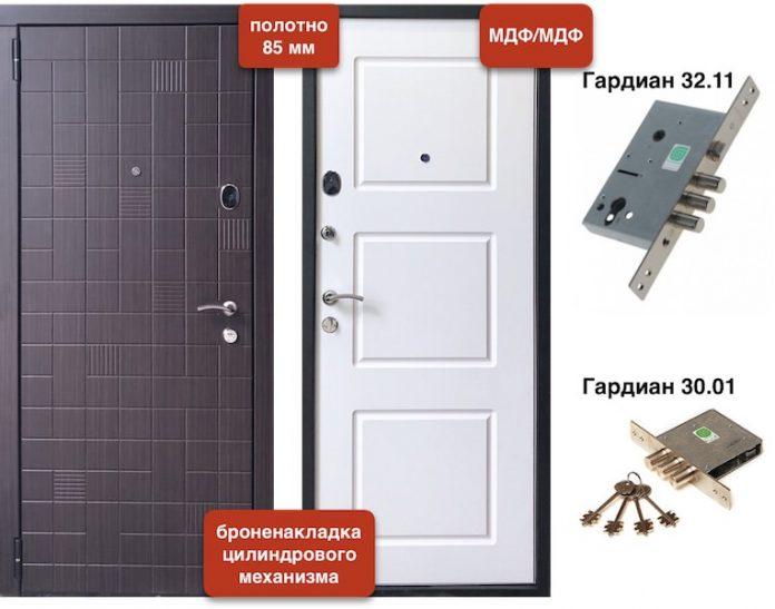 Входная дверь VD-48 МДФ/МДФ