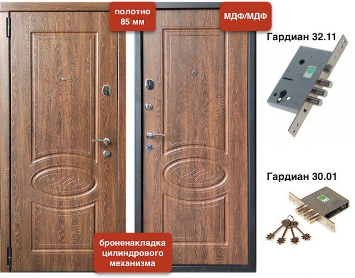 Входная дверь VD-49 МДФ/МДФ