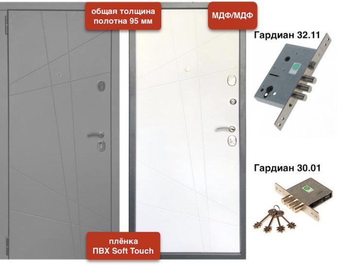 Входная дверь VD-82 Soft МДФ/МДФ