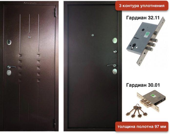 Входная дверь VD металл/металл 97 мм