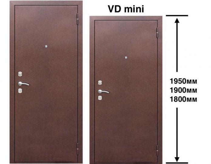 Входная дверь VD металл/металл 60 мм