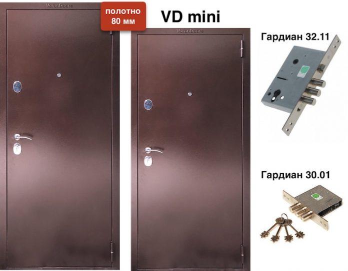 Входная дверь VD металл/металл 80мм