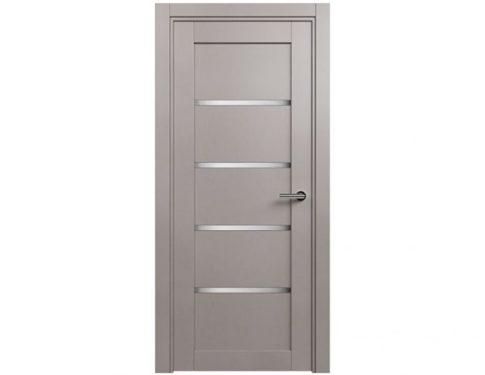 Межкомнатная дверь Status Optima 121 цвет Grey