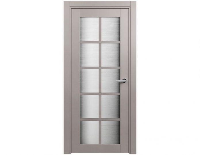 Межкомнатная дверь Status Optima 123 цвет Grey