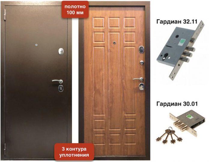 Входная дверь Спарта 100 мм 3 контура
