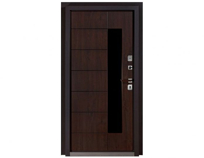 Входная металлическая дверь Белуга МОДЕЛЬ «Асти Браун»
