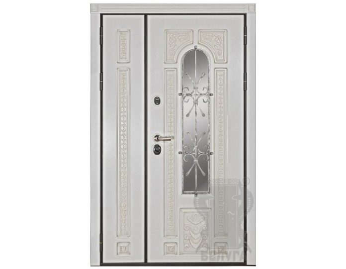 Входная металлическая дверь Белуга МОДЕЛЬ «Лацио двустворчатая»