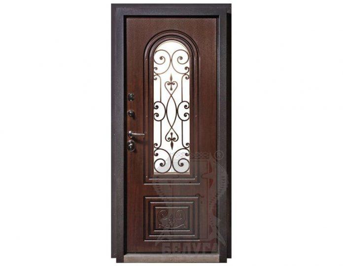 Входная металлическая дверь Белуга МОДЕЛЬ «Севилья» с ковкой