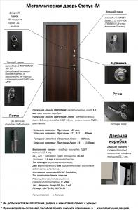 ВХОДНЫЕ ДВЕРИ . Дизайн в едином стиле с межкомнатными дверями TM Status