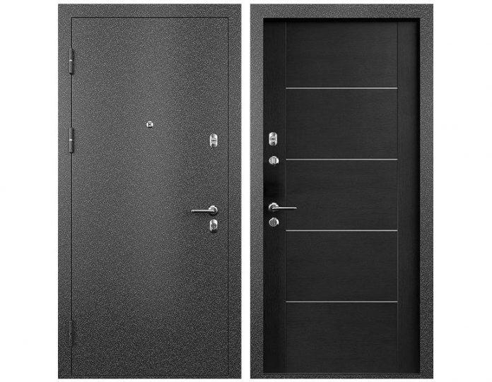 Входная дверь МОДЕЛЬ СТАТУС М 211 ПРЕСТИЖ цвет полотна Дуб черный