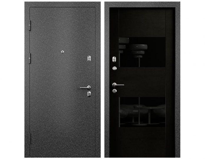 Входная дверь МОДЕЛЬ СТАТУС М 221 ПРЕСТИЖ цвет полотна Дуб черный