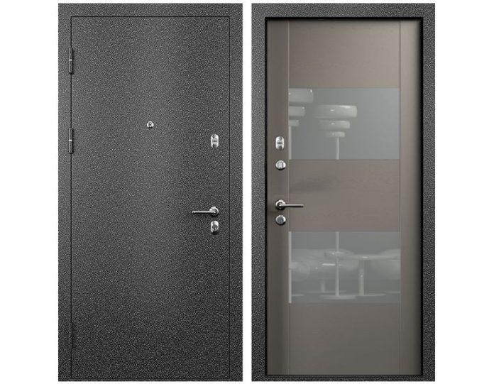Входная дверь МОДЕЛЬ СТАТУС М 221 ПРЕСТИЖ цвет полотна Grey