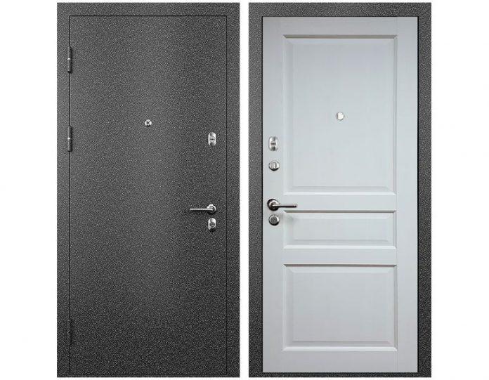 Входная дверь МОДЕЛЬ СТАТУС М 531 ПРЕСТИЖ цвет полотна Белый жемчуг