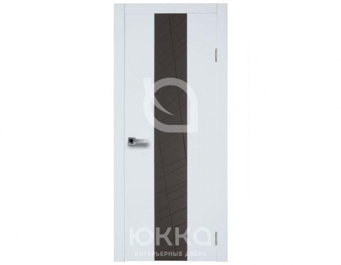 Межкомнатная дверь Юкка МОДЕЛЬ Стиль 1.1 с накладным стеклом