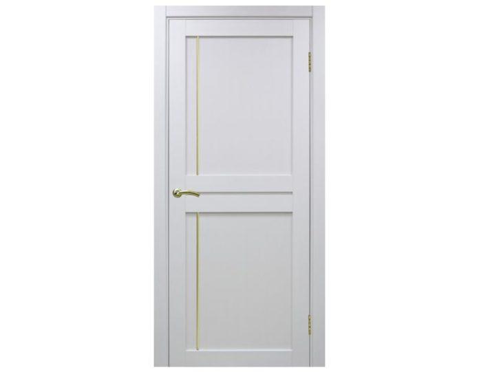 Межкомнатная дверь «OPTIMA PORTE» Турин 523АПП Молдинг SG Белый монохром