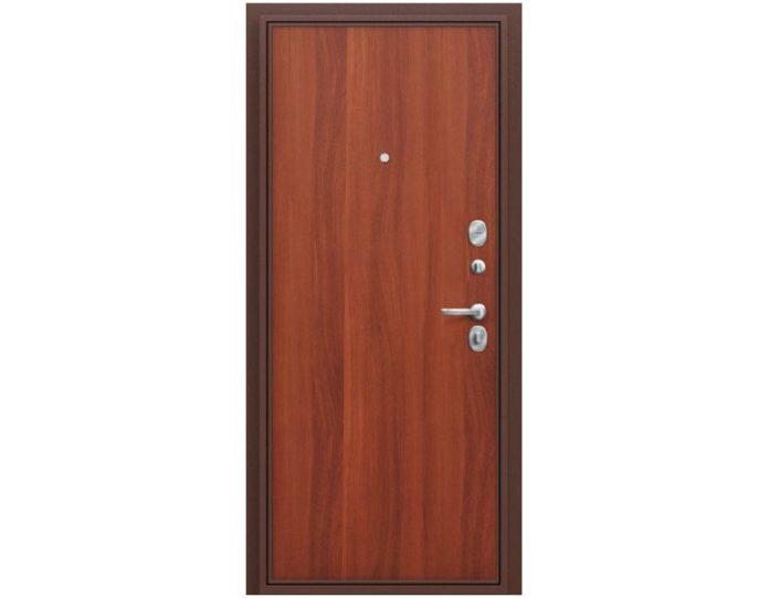 Входная дверь «БРАВО» МОДЕЛЬ Стандарт Антик Медь/М-11 (ИталОрех)