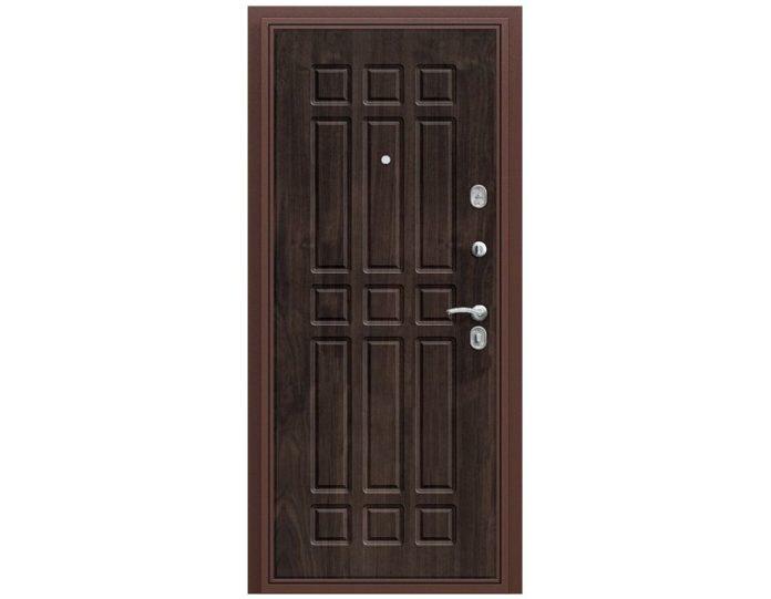 Входная дверь «БРАВО» МОДЕЛЬ Старт Антик Медь/П-28 (Темная Вишня)