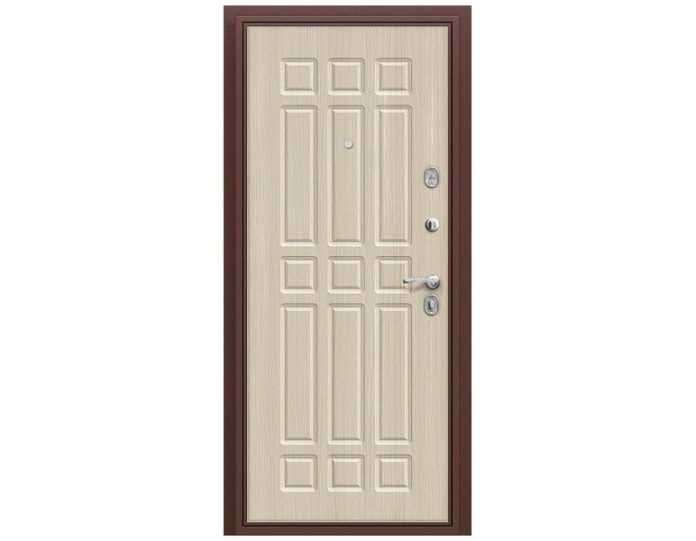 Входная дверь «БРАВО» МОДЕЛЬ Старт Антик Медь/П-30 (БелДуб)