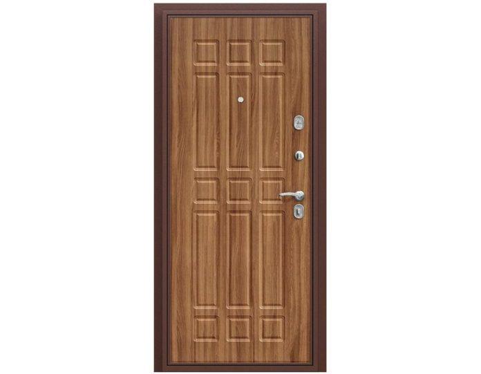 Входная дверь «БРАВО» МОДЕЛЬ Старт Антик Медь/П-8 (Янтарный Дуб)