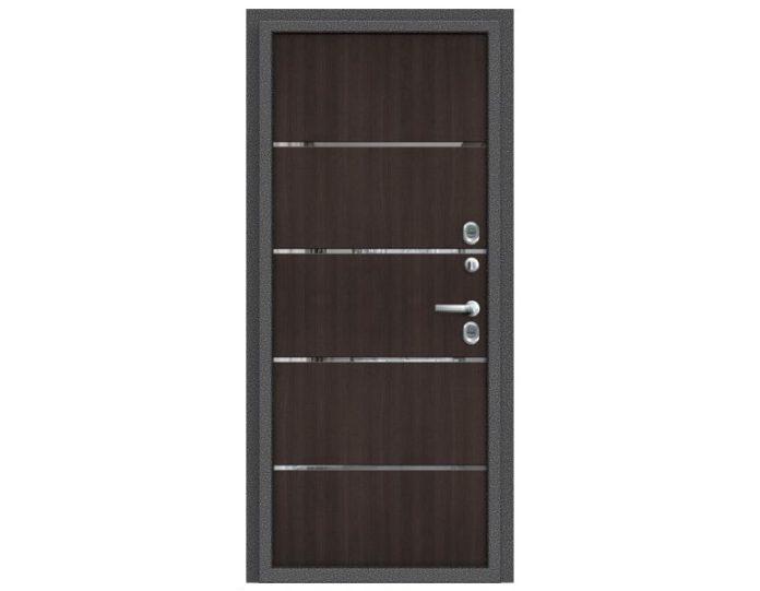 Входная дверь Модель Термо 204 Антик Серебро/Wenge Veralinga