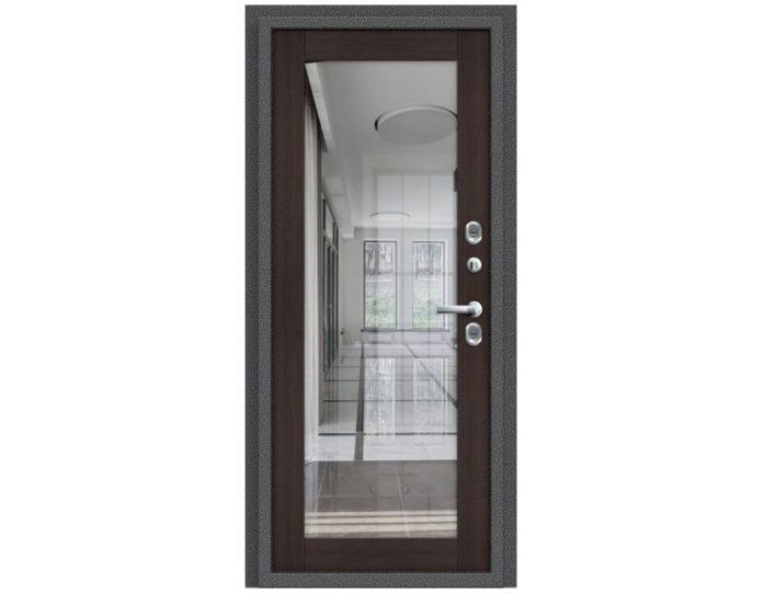 Входная дверь Модель Термо 220 Антик Серебро/Wenge Veralinga