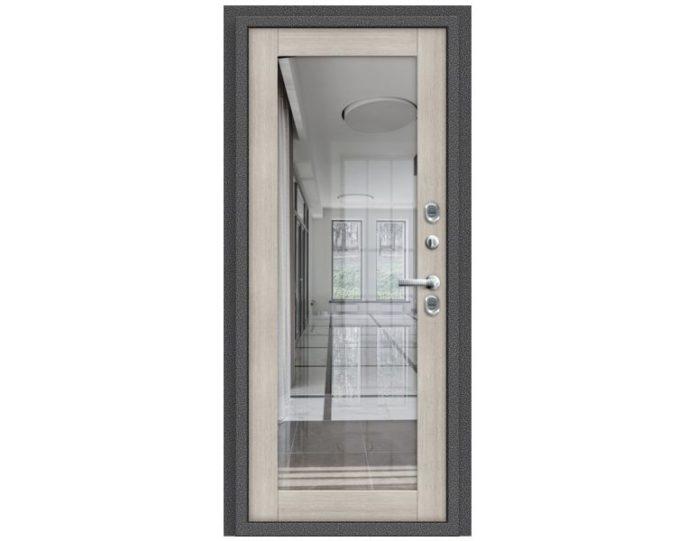 Входная дверь МОДЕЛЬ Термо 220 Антик Серебро/Cappuccino Veralinga