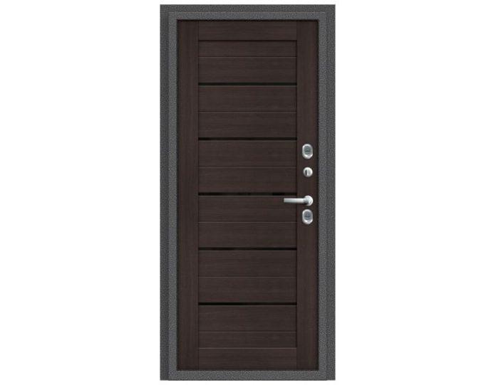 Входная дверь Модель Термо 222 Антик Серебро/Wenge Veralinga