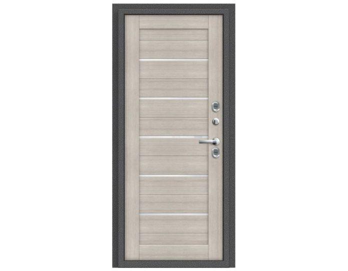 Входная дверь Модель Термо 222 Антик Серебро/Cappuccino Veralinga