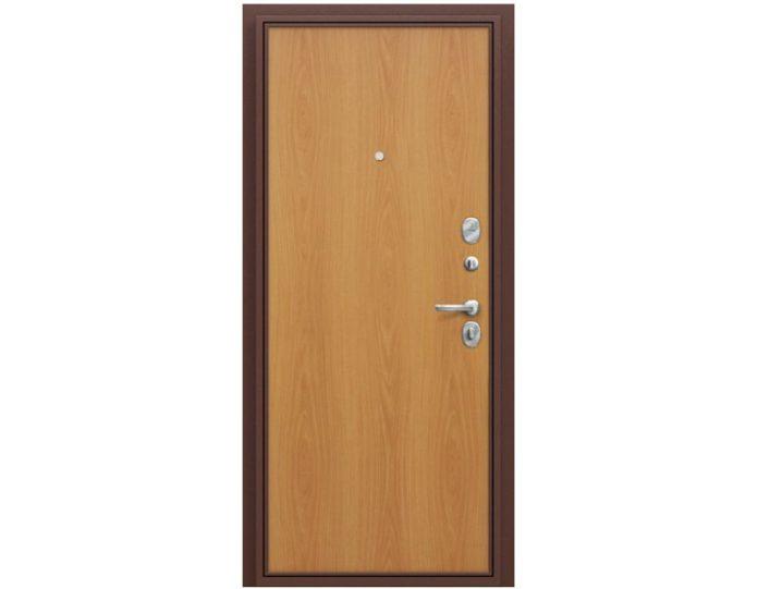Входная дверь «Браво» Модель Стандарт Антик Медь/М-12 (МиланОрех)