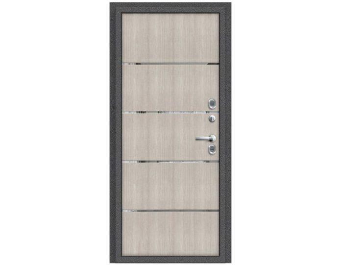 Входная дверь «Браво» Модель Термо 204 Антик Серебро/Cappuccino Veralinga