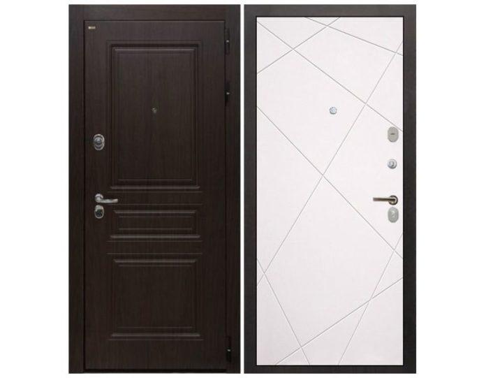 Входная дверь Интекрон Брайтон Лучи-М (Тиковое дерево / Софт милк)
