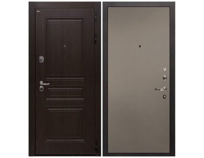 Входная дверь Интекрон Брайтон (Тиковое дерево / Силк муссон)