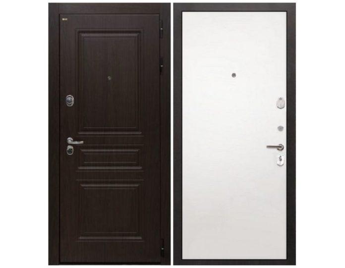 Входная дверь Интекрон Брайтон (Тиковое дерево / Силк сноу)