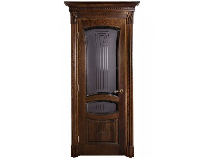Межкомнатная дверь Ламель МОДЕЛЬ «Арника дуб стекло»