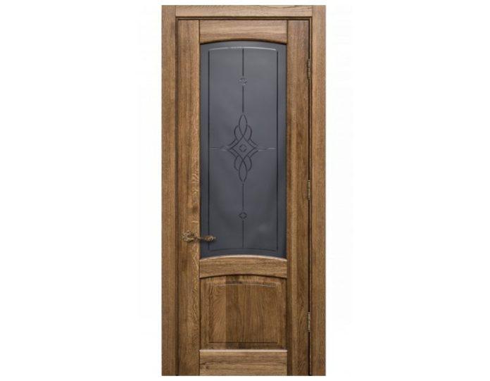 Межкомнатная дверь Ламель МОДЕЛЬ «Эрида дуб стекло»