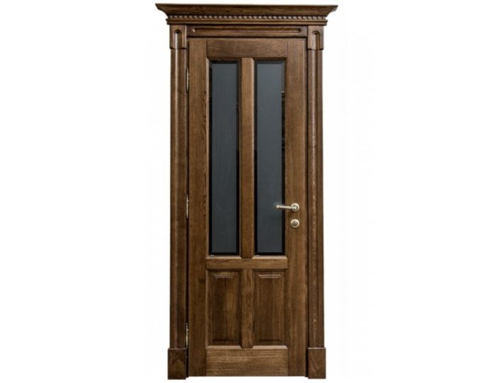 Межкомнатная дверь Ламель МОДЕЛЬ «Карисса дуб стекло»
