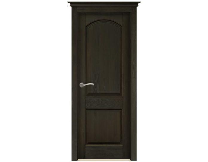 Межкомнатная дверь «Ока» Модель Осло-2 Эйвори Блек